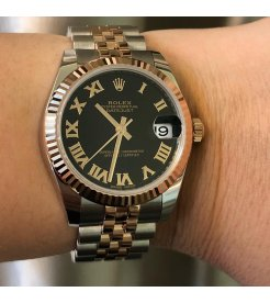 Rolex [NEW] Datejust 31mm Ladies 178271 Black Roman Jubilee