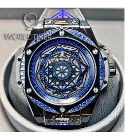 Hublot [NEW][LIMITED 100 PIECE] 465.CS.1119.VR.1201.MXM18 Big Bang Sang Bleu All Black