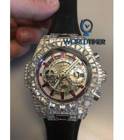 """Hublot [NEW] Big Bang Unico """"10 Years"""" Haute Joaillerie Ruby Edition 411.WX.9042.LR.9942"""