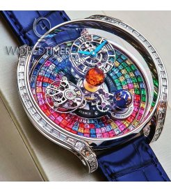 Jacob & Co. 捷克豹 [2019 NOVELTY] Astronomia Solar Baguette Tourbillon With Multicolour Sapphire