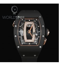 Richard Mille [NEW] RM 037 Ladies Automatic Black Ceramic with Rose Gold Black Lip (Retail:HK$1,017,000)
