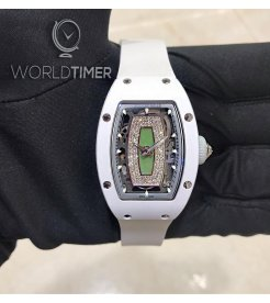 Richard Mille [NEW] RM 07-01 Green Lip White Ceramic Automatic Ladies