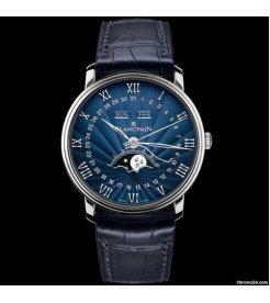Blancpain [NEW] Moonphase & Complete Calendar 40mm Blue Dial 6654-1529-55B