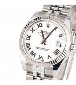 ROLEX [NEW] DATEJUST 31mm 178274 WHITE ROMAN JUBILEE LADIES (Retail:HK$55,500)