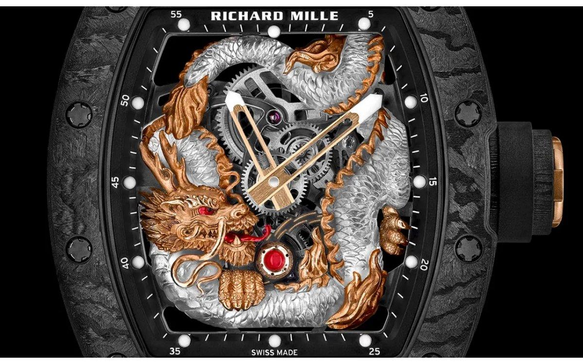 凜凜威風,盤龍現身|Richard Mille RM57-03水晶龍陀飛輪腕錶