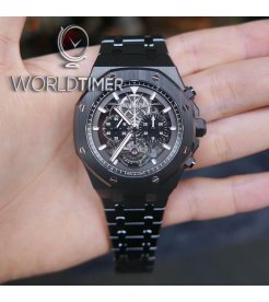 Audemars Piguet [2018 NEW][LIMITED 25 PIECE] Royal Oak Tourbillon Chronograph Openworked Black Ceramic 26343CE