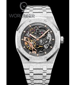 Audemars Piguet [NEW] Royal Oak 41mm Double Balance Wheel Openworked Frosted White Gold 15407BC