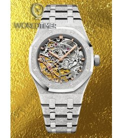 AUDEMARS PIGUET [NEW] Frosted White Gold Royal Oak Ladies Openworked 15466BC.GG.1259BC.01