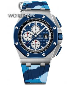 "Audemars Piguet [NEW] Royal Oak Offshore Chronograph Blue Camouflage ""Camo"" 26400SO.OO.A035CA.01"