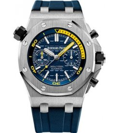 AUDEMARS PIGUET [2016 USED] Royal Oak Offshore Diver Blue Dial Chronograph 26703ST.OO.A027CA.01
