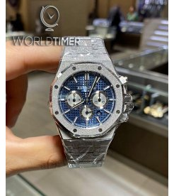 Audemars Piguet [NEW] Royal Oak Frosted Gold Blue Chronograph 26331BC.GG.1224BC.02
