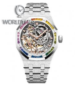 "Audemars Piguet [NEW] Frosted Gold ""Snow Rainbow"" Double Balance Wheel Openworked 15468BC"