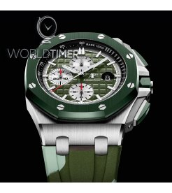 Audemars Piguet [NEW] Stainless Steel Green Camouflage 26400SO.OO.A055CA.01