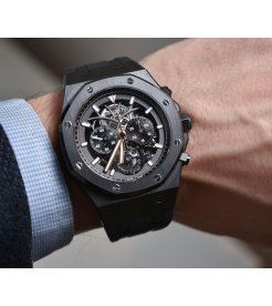 Audemars Piguet [NEW][LIMITED 100 PIECE] Royal Oak Tourbillon Chronograph Openworked Black Ceramic 26343CE