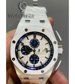 Audemars Piguet [2014 LIKE-NEW] 26402CB Royal Oak Offshore Chronograph White Ceramic Watch