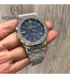 Audemars Piguet [2018 MINT][LIMITED 200 PIECE] Royal Oak Frosted White Gold 15410BC 41mm Watch