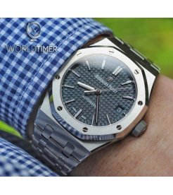 AUDEMARS PIGUET [NEW] Royal Oak 15450ST Grey Ruthenium Dial Ladies Watch