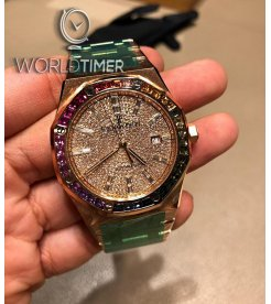 Audemars Piguet [NEW][LIMITED 10 PIECE][限量10支] Rainbow Pave Diamonds 15413OR.YY.1220OR.01