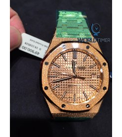 AUDEMARS PIGUET [NEW] ROYAL OAK FROSTED GOLD SELFWINDING 15454OR.GG.1259OR.03
