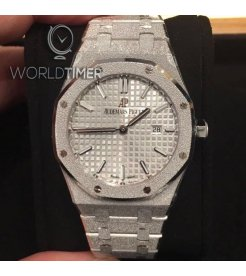 Audemars Piguet [NEW] Royal Oak Rhodium Dial Ladies 67653BC.GG.1263BC.01