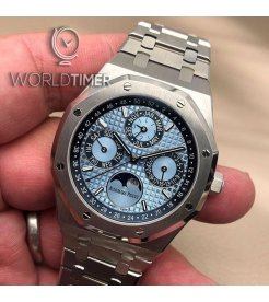 Audemars Piguet [NEW][LIMITED 50 PIECE] Royal Oak Perpetual Calendar Ice Blue Platinum 26574PT.OO.1220PT.01