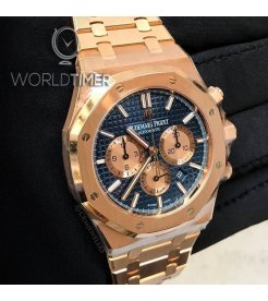 Audemars Piguet [NEW] Royal Oak Chronograph 26331OR Blue Dial Watch