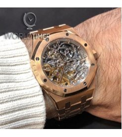 Audemars Piguet [NEW] ROYAL OAK DOUBLE BALANCE WHEEL OPENWORKED 15467OR.OO.1256OR.01