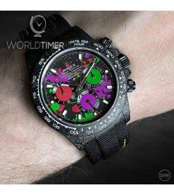 """Rolex DiW NTPT Carbon Daytona """"MOTLEY PURPLE UNIQUE 2"""" (Retail:US$56,800)"""