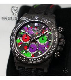 "Rolex DiW NTPT Carbon Daytona ""MOTLEY PURPLE UNIQUE 1"" (Retail:US$56,800)"