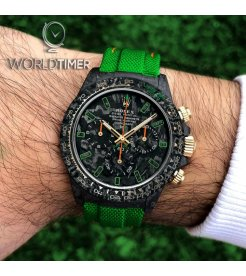 "Rolex DiW NTPT Carbon Daytona ""ALL CARBON LIME"" (Retail:US$52,990)"