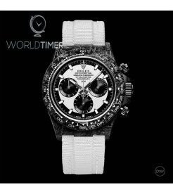 "Rolex DiW NTPT Carbon Daytona Panda ""CREAM"" (Retail:US$49,500)"