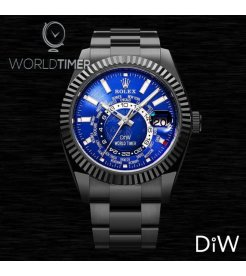 "Rolex DiW Black DLC ""BLUE & BLACK"" Sky-Dweller 42mm 326934 (Retail:EUR 33990)"
