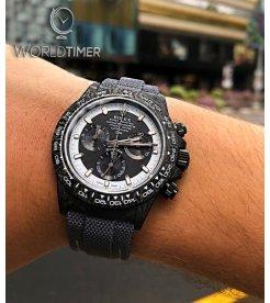 """Rolex DiW NTPT Carbon Daytona """"CREAM INVERT"""" (Retail:US$40,990)"""