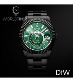 Rolex DiW Black DLC Green Sky-Dweller 42mm 326934 (Retail:US$40,000)