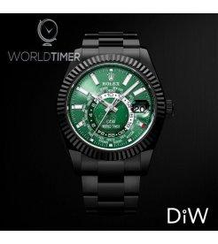 Rolex DiW Black DLC Green Sky-Dweller42mm326934 (Retail:EUR 33990)