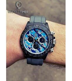 "Rolex DiW Carbon Daytona ""MILITARY BLUE""(Retail:US$52,000)"