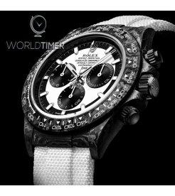 """Rolex DiW NTPT Carbon Daytona Panda """"CREAM"""" (Retail:US$49,500)"""
