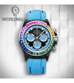 "Rolex DiW [NEW] NTPT Carbon Daytona ""RAINBOW BLUE"" (Retail:US$77,990)"