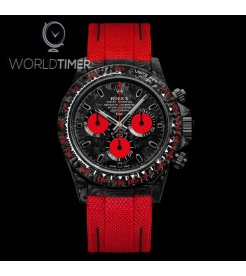 "Rolex DiW NTPT Carbon Daytona ""CARBON RED UNIQUE"" (Retail:US$53,990)"
