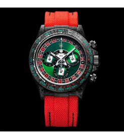 "Rolex DiW NTPT Carbon Daytona ""LUCKY PLAYER CASINO"" (Retail:US$52,990)"