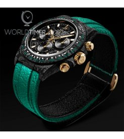 """Rolex DiWNTPT CarbonDaytona """"EMERALD"""" (Retail:US$55,990)"""