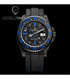 "Rolex DiW NTPT Carbon GMT-Master II ""ELECTRO"" (Retail: US$38,990)"