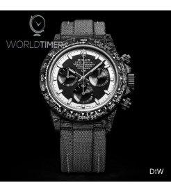 """Rolex DiW NTPT Carbon Daytona """"CREAM INVERT"""" (Retail:US$44,000)"""