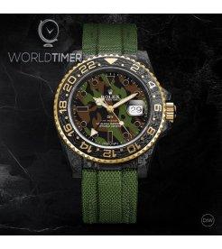 "Rolex DiW NTPT Carbon GMT-Master II ""MILITARY GMT"" (Retail: US$44,500)"