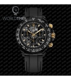"Rolex DiW NTPT Carbon Daytona ""BLACK & GOLD"" (Retail:US$55,000)"