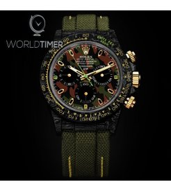 "Rolex DiW NTPT Carbon Daytona ""MILITARY GREEN UNIQUE 2"" (Retail:US$62,990)"