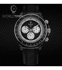 """Rolex DiW NTPT Carbon Daytona """"PAUL NEWMAN BLACK SC"""" (Retail:US$49,500)"""