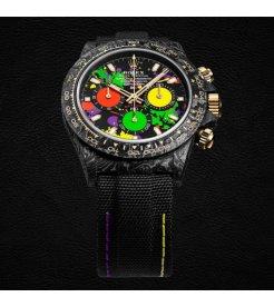 "Rolex DiW [NEW] Ultimate Unique Top Model ""MOTLEY"" NTPT Carbon Daytona (Retail:US$64,500)"