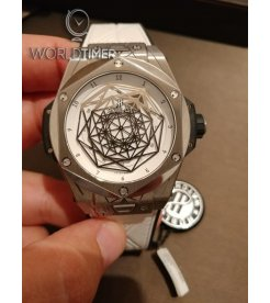 HUBLOT [NEW][LIMITED 200] BIG BANG SANG BLEU TITANIUM WHITE 415.NX.2027.VR.MXM18