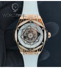 Hublot [NEW][LIMITED 100 PIECE] Big Bang One Click Sang Bleu King Gold White Diamonds 465.OS.2028.VR.1204.MXM19 (Retail:EUR 29000) - SOLD!!